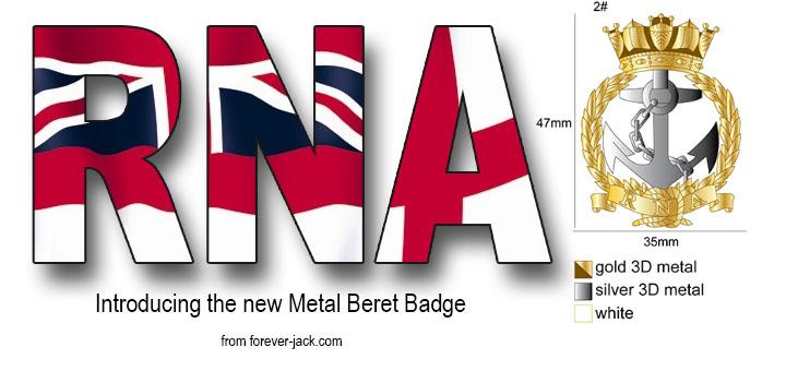 NEW RNA BERET BADGE (Metal)